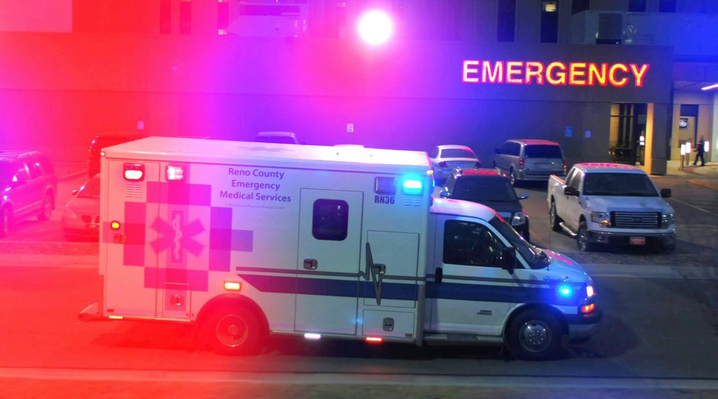 Reano County ambulance at Hutchinson Regional Medical Center