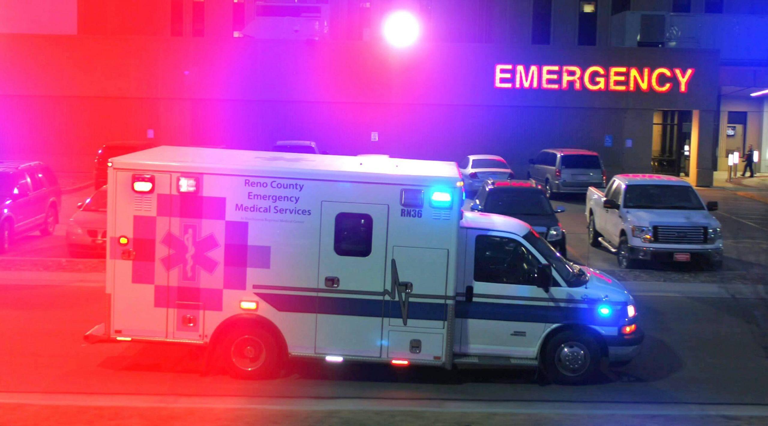 Reano County ambulance at Hutchinson Regional Medical Center