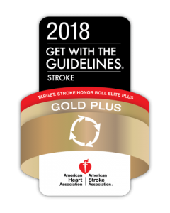 2018 Gold Pl,us Award - Stroke Honor Roll Elite Plus - American Heart Association | American Stroke Association