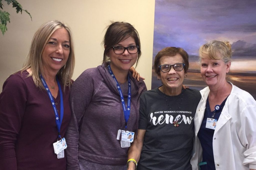 Susan Rust with Hutchinson Regional Medical Center staff members